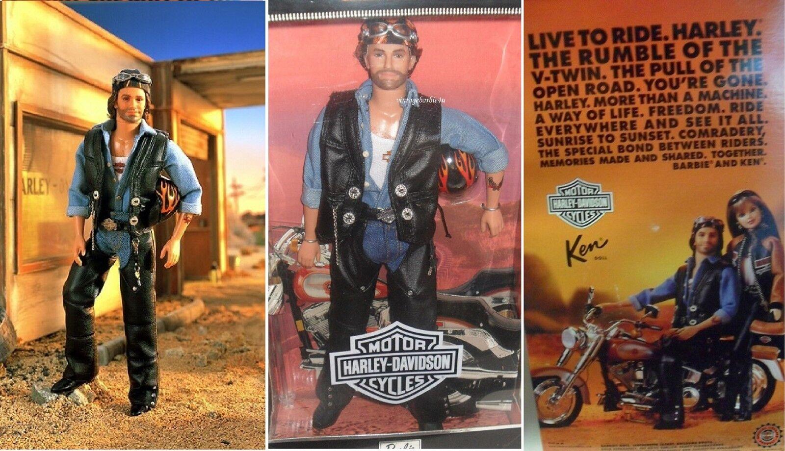 Harley Davidson Ken Muñeca Barbie Mattel Nuevo Sin Usar, En Caja