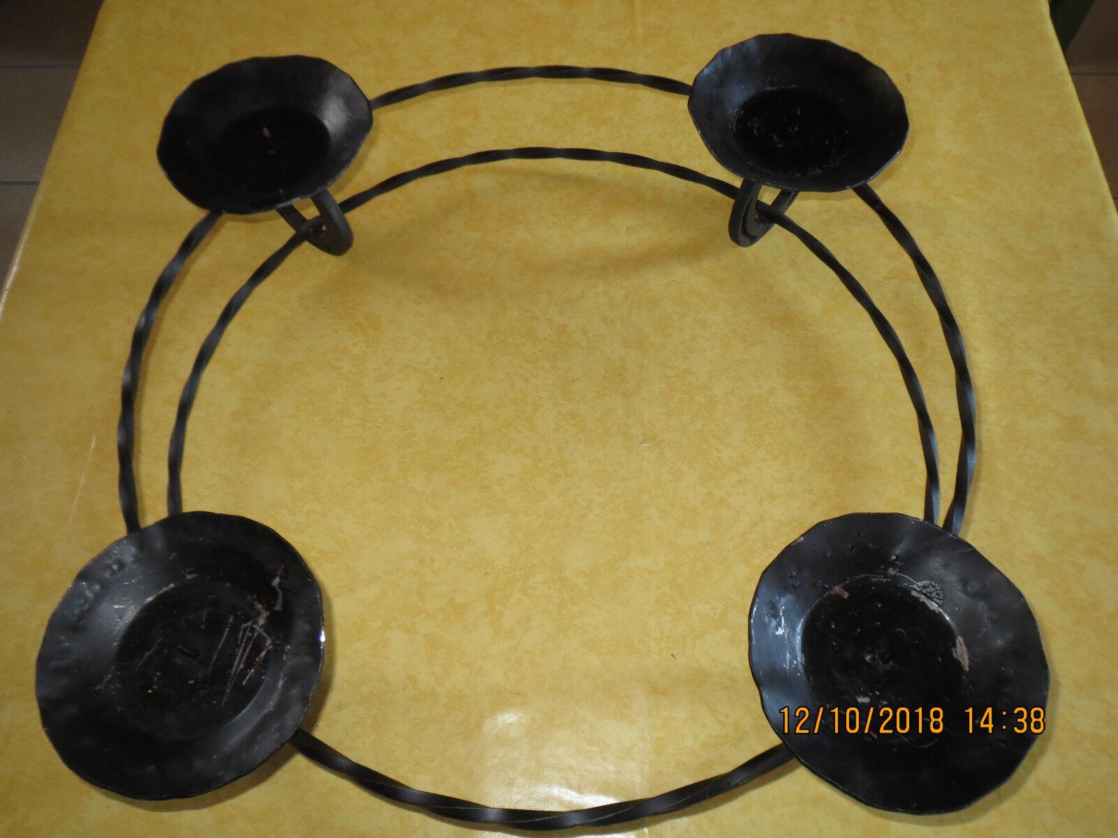 Kerzenleuchter 4 Flm handgeschm., 46 cm Durchm, gebraucht,schwarz,Kerzenhalter   | Kaufen Sie online