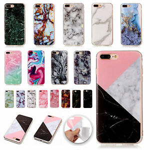 free shipping 21f05 bb5b4 Details about Ultra Slim Marble Pattern TPU Soft Back Case Cover For iPhone  8 Plus/7 Plus/6s/5