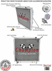 2 Row Ace Champion Radiator for 1986-1995 Toyota Pickup L4 Engine