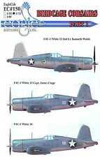 EagleCals Decals 1/48 VOUGHT F4U-1 BIRDCAGE CORSAIR Fighters Part 1