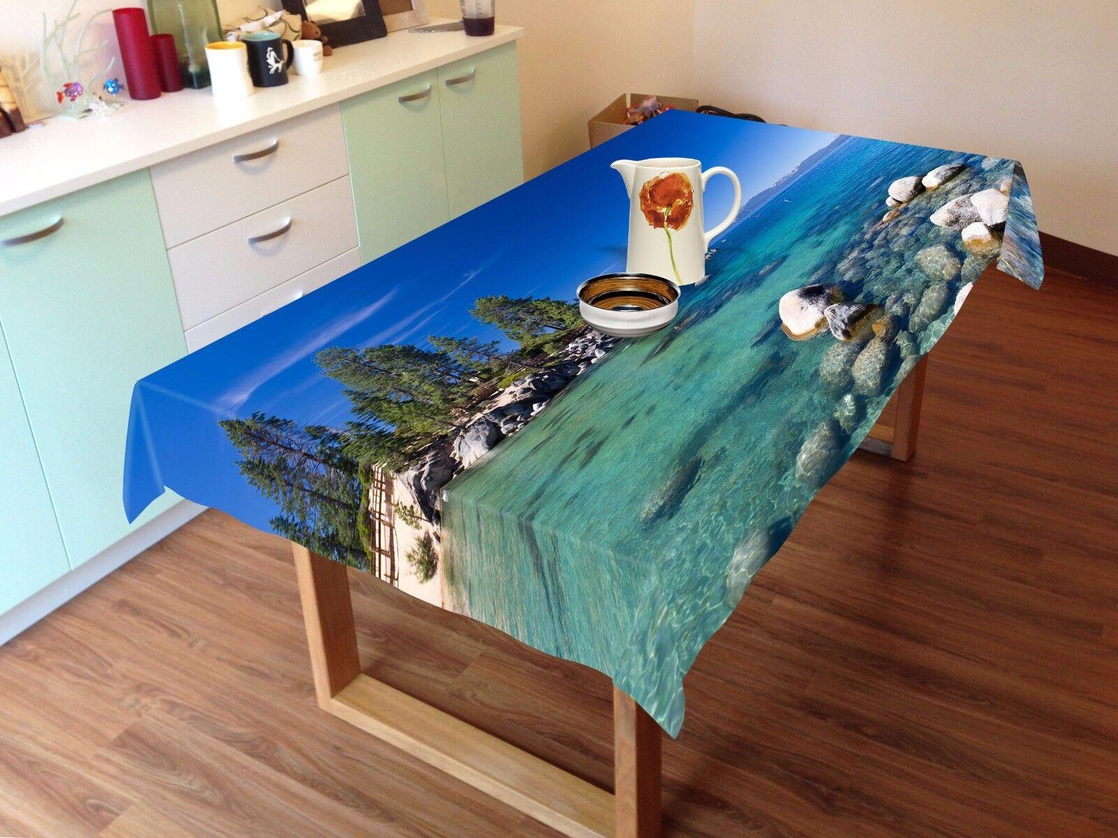 3D SEA SKY 5 Nappe Table Cover Cloth fête d'anniversaire AJ papier peint Royaume-Uni Citron