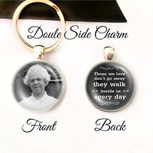 Personalised Double Sided Keyring Memorial Bereavement Lost Love Memory Gifts