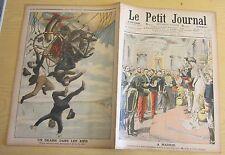 Le petit journal 1906 813 Roi d'espagne madrid accident montgolfière
