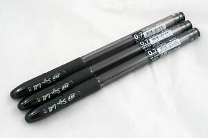6 SKB Smooth S.K.B G-200 0.5mm BLACK or BLUE Smooth Jumbo View Fine Gel Pens
