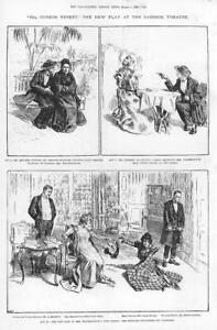 1898-Antique-Print-LONDON-22A-Curzon-Street-Garrick-Theatre-Piddock-Brough-71