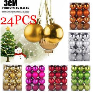 24Pcs-Glitter-Christmas-Balls-Baubles-Xmas-Tree-Hanging-Ornament-Xmas-Decor-HOT