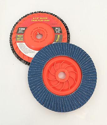 4-1//2 x 5//8 PREMIUM ZIRCONIA GRINDING WHEEL FLAP DISC 40 GRIT NEW WennoW 10 PC