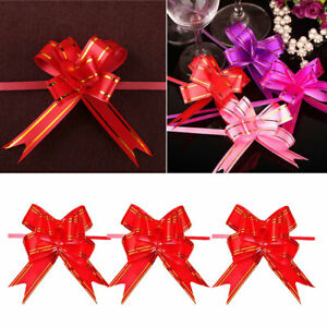 30x-Pull-Flower-Ribbon-Bow-Gift-Wrap-Wedding-Party-Floristry-Car-Decoration-Y7E9