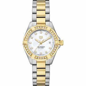 Tag Heuer Women's WBD1423.BB0321 Aquaracer Diamond Steel 18kt Gold-plated Watch