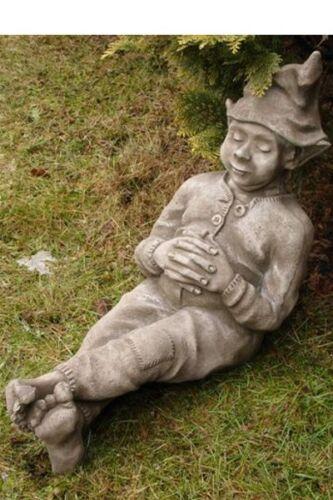 """Schlafender Wichtel /""""Bosse/"""" by Fiona Scott Steinfigur Vidroflor Gartenfigur"""