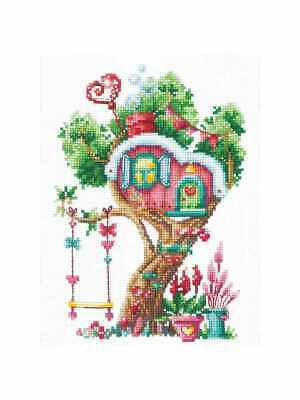 Modern Counted Cross Stitch Embroidery Kit Pumpkin tree by Andriana Manufacture