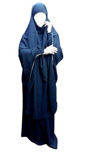 manica con zip-Qualità Premium 2 PEZZI Jilbab//Abaya-l/' allattamento al seno NUOVO stile