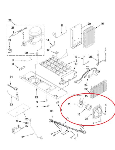 Kitchenaid Refrigerator Condenser Fan Motor Wp2188874 W10251467