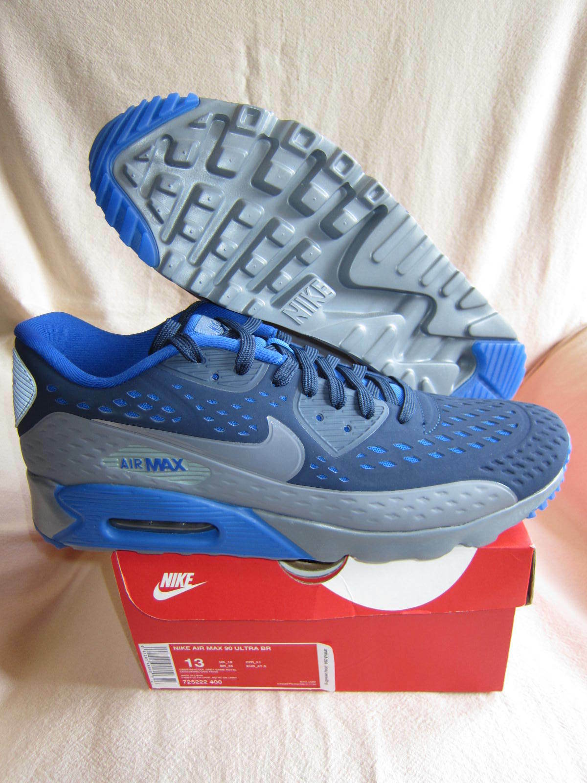brand new b145d 1fc15 NIKE AIR MAX 90 ULTRA BR -Mens Running Shoe-Obsidian Cool Gry