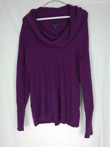 Banana-Republic-Womens-M-Purple-Cowl-Neck-Italian-Yarn-Pullover-Sweater