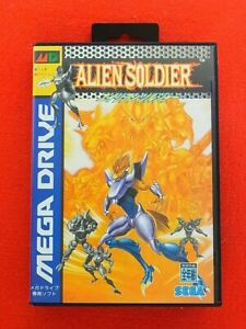 Sega-Genesis-Megadrive-Alien-Soldier-Good-Condition-From-Japan-Rare-Game