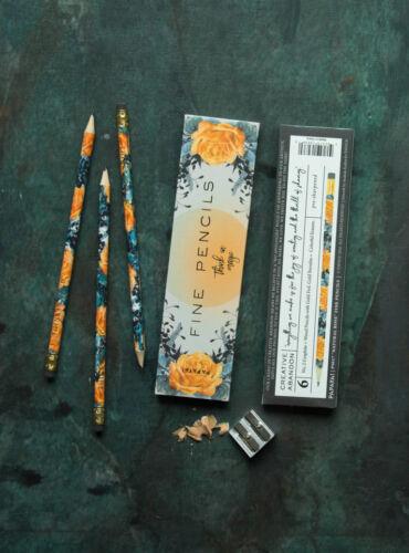 PS Choose Papaya E7 Women/'s Art Drawing 6 Count No2 Graphite Pencil Set