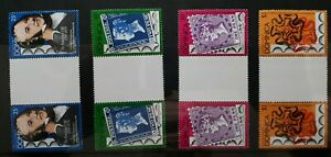 1979 Dominique Set Complet De 4 Gouttière Timbre Paire-sir Rowland Hill-neuf Sans Charnière-afficher Le Titre D'origine Nettoyage De La Cavité Buccale.