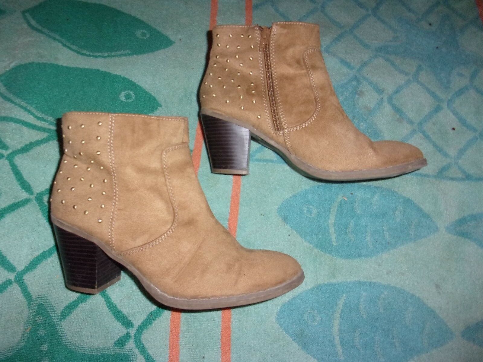 Old Navy SIZE ZIPPER BOOTS WOMENS SIZE Navy 9 290226