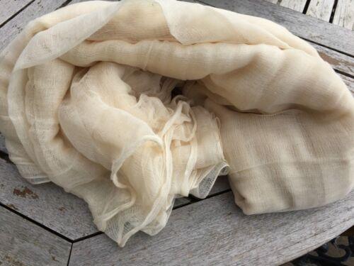 100/% Baumwolle Baumwollstoff Gaze Natürlich Creme Stoff 150cm Breit