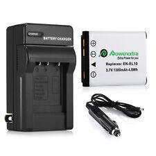 EN-EL10 ENEL10 Battery + Charger For Nikon CoolPix S80 S230 S220 S200 S205 S210