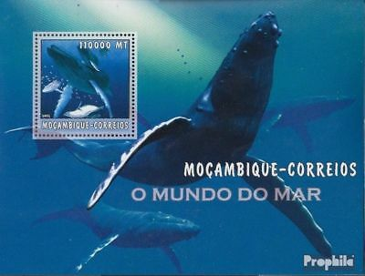 Never Hinged 2002 World Of Marine Forceful Mozambique Block187 Unmounted Mint Africa