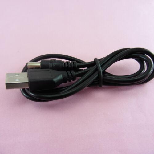 Cable de carga USB a 5 V 5.5 Mm x 2.1 mm Fuente de Alimentación DC Conector Plug