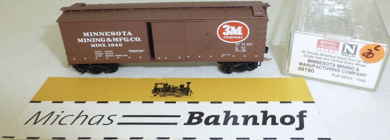 Micro Trains 39190 Minx 1040 40' Wood Sheathed Boxcar N 1 160 Ovp l Å