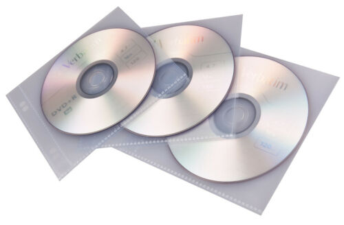 10 Hüllen proOFFICE CD-//DVD-Hülle für 1 CD//DVD PP transparent