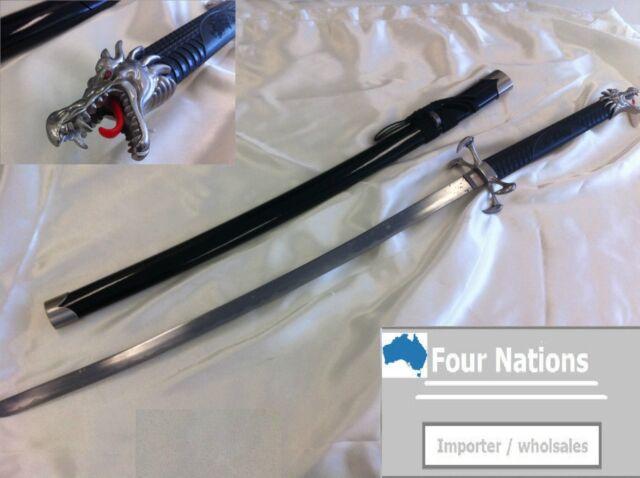 Black Dragon Claw Japanese Samurai Sword w/Single Sword Stand