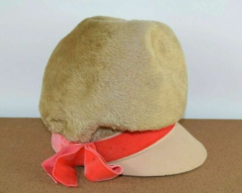 Vtg Ted Peters Womens Hat 1920s Bucket Train Flapp