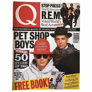 Q Magazine Pet Shop Boys REM My Bloody Valentine Morrissey The Smiths 1992 Jan