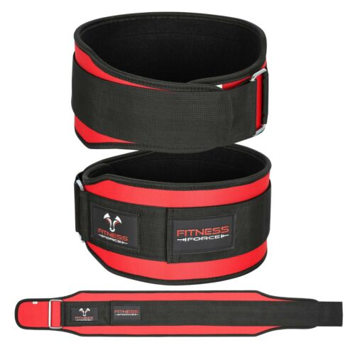 """Weight Lifting Belt Gym Back Support Power Training Lower Lumbar Pain 5.5/"""" Wide"""