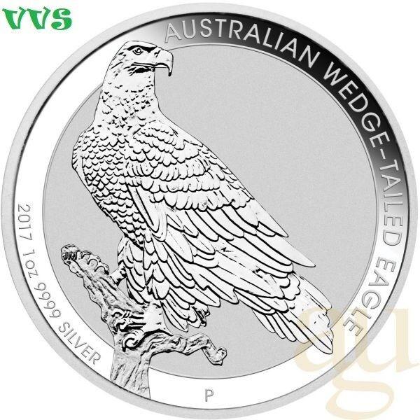 Silbermünze Australien Wedge Tailed Eagle 2017- 1 oz Unze. 999,9Feinsilber.