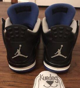 778f3e4e0e50 Nike Air Jordan Retro 4 IV Royal Blue Black Motorsport Flight Sz 9 ...