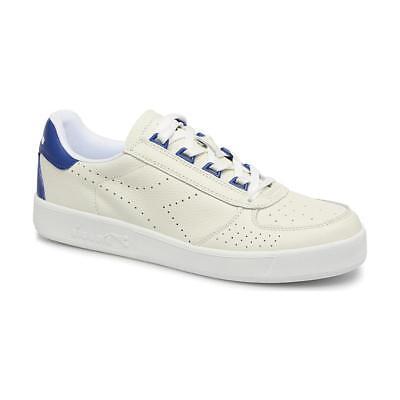 Diadora Da Uomo Bianco Blu Pelle B. Elite PERF Originals Retrò L Scarpe da ginnastica, UK 8 | eBay