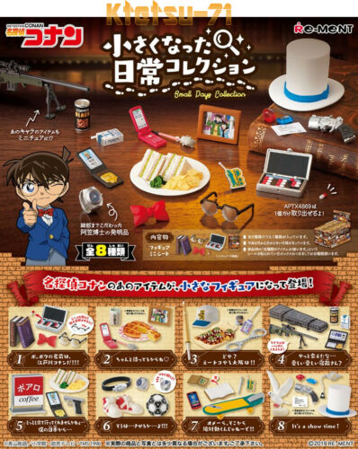 Re-ment Case Closed Detective Conan Small days Miniature Figure Full set 8 types