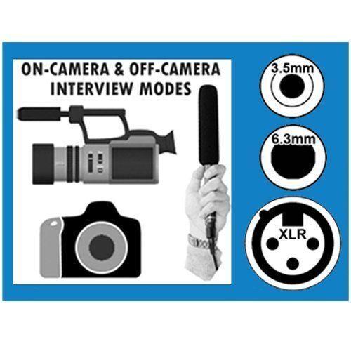 Canon Vixia HF R80 Camcorder External Microphone Vidpro XM-55 Microphone Kit