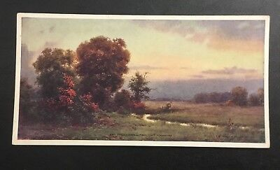 Art Edwin Lamasure Jr Virginia Twilight Landscape Calendar October 1923 Rare Vtg Ad To Be Renowned Both At Home And Abroad For Exquisite Workmanship Skillful Knitting And Elegant Design