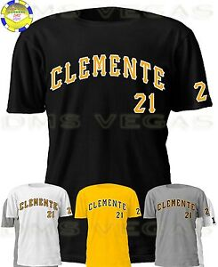 pretty nice 3a718 c163a Details about Pittsburgh Pirates Roberto Clemente Jersey Tee Shirt Men Size  S-5XL