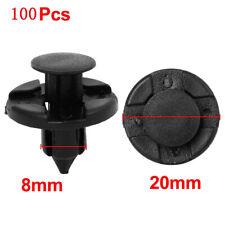 100x 8.5mm Plastic Fender Bumper Rivet Fastener Push Pin Clips for Nissan Altima