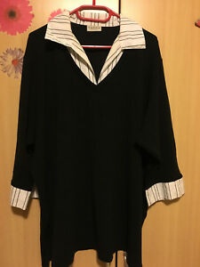 Bluse-Shirt-Tunika-Damenbekleidung-CandA-Grosse-Groesse-52-54