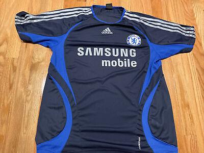 Chelsea FC Adidas mens size large blue soccer jersey   eBay
