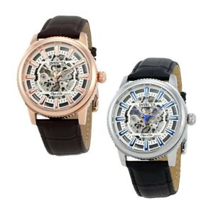 Invicta-Objet-D-Art-Automatic-Skeleton-Dial-Mens-Watch-Choose-color