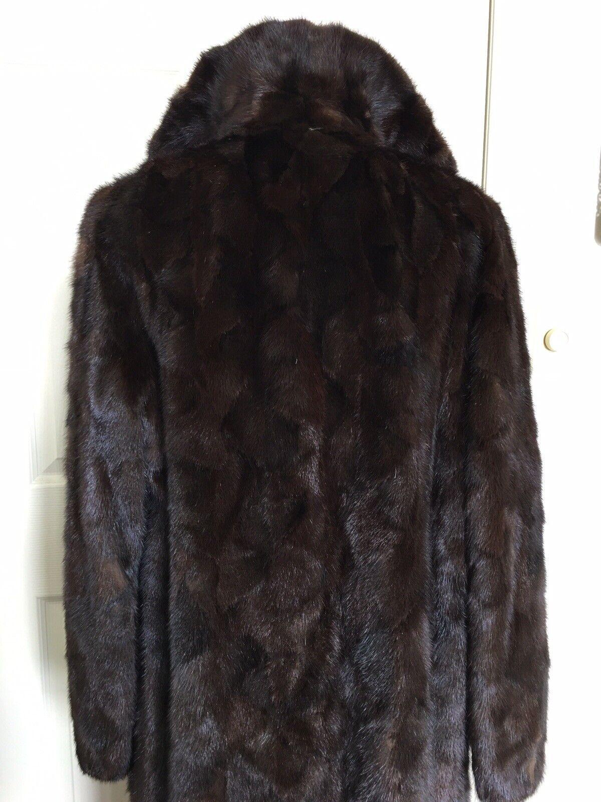 """Dark Brown Mink Fur Coat Full Lenght  """"Diane Furs… - image 12"""