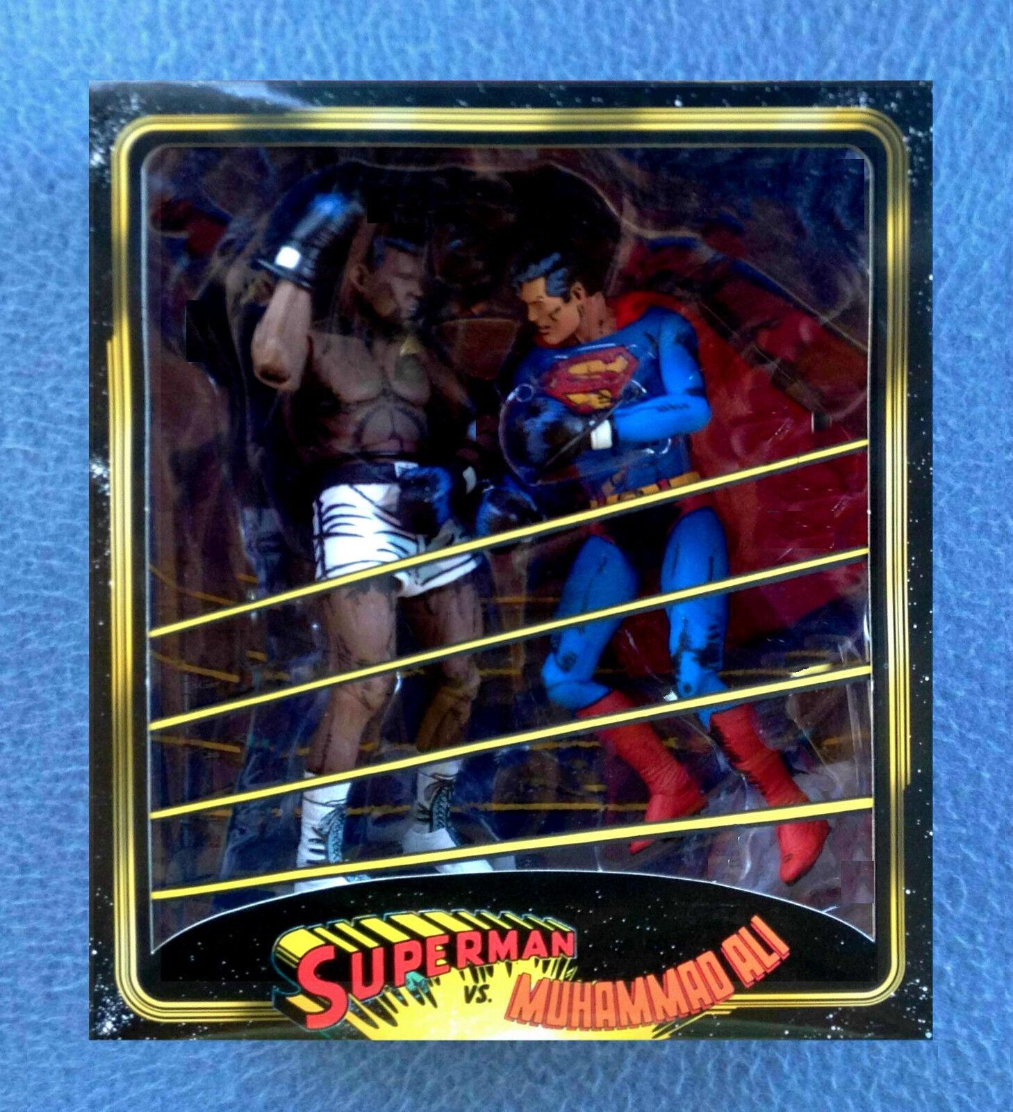 SUPERMAN VS. MUHAMMED ALI IN BOXING MATCH 7 INCH FIGURES NECA