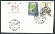 1986 ITALIA FDC CAVALLINO ARTE ITALIANA NO TIMBRO ARRIVO - CV1986-3