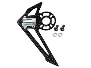 Microheli-Blade-130-S-Silver-Aluminum-Carbon-Tail-Motor-Mount-W-Fin-MH-130S025
