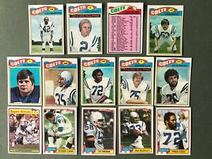 Lot 14 cartes NFL Baltimore Colts 1977 1981 TOPPS Football Américain